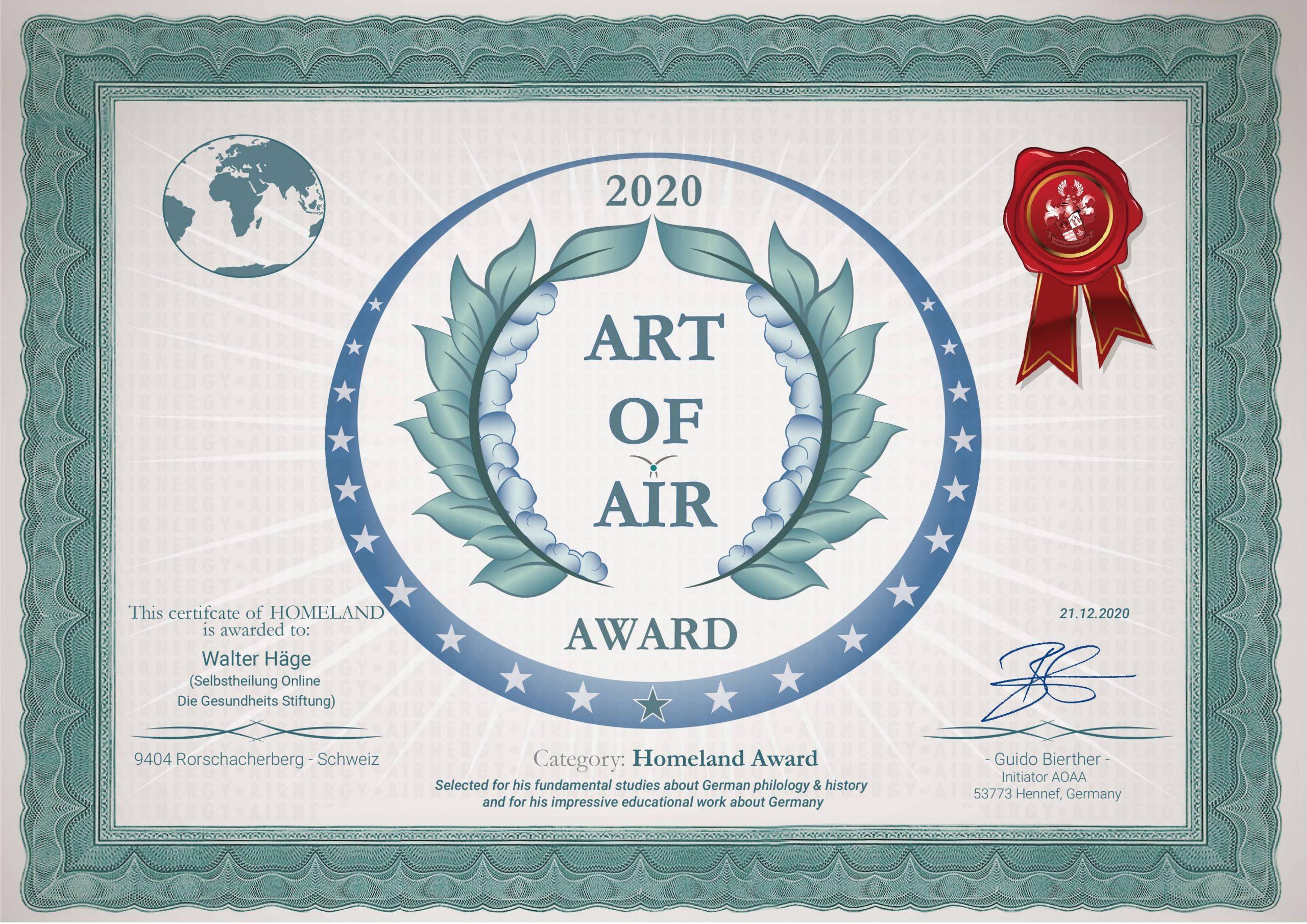 Homeland Award